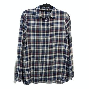Jenni Kayne Blue Plaid Flannel Button Down